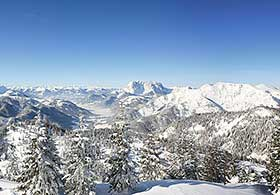 Panorama Steinplatte Winter Wilder Kaiser
