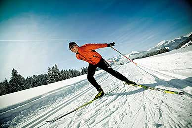 Cross-country skiing - classing and skating - > 150 km of trails